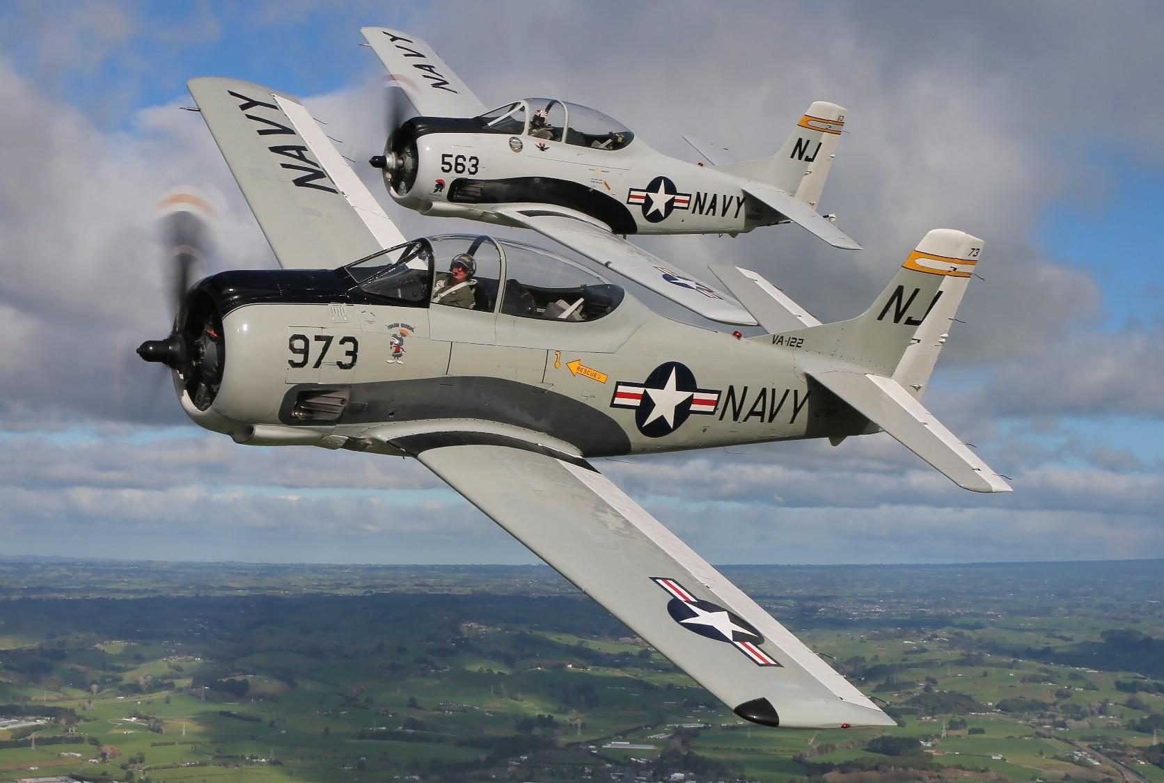 T-28 Trojan Display Team - NZ Warbirds